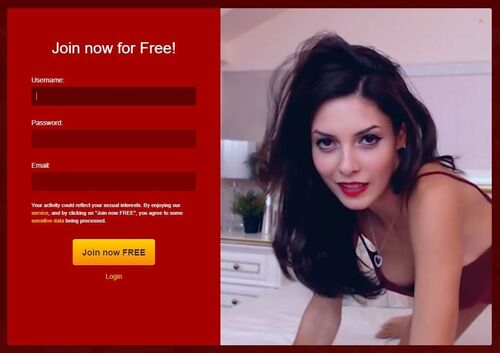 Quick and easy registration to LiveJasmin.com