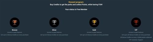 The higher the membership level you reach the bigger the rewards